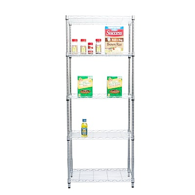 Mind Reader 'Store' 4 Shelf Metal Shelving Unit, Chrome
