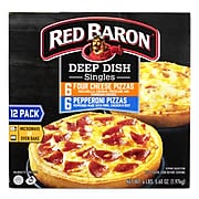 Red Baron Deep Dish Pizza Singles Variety Pack, 12/Pack (903-00007)