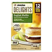 Jimmy Dean Delights Turkey Sausage, Egg White & Cheese English Muffin, 12/Pack (903-00011)