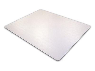 Cleartex Advantagemat PVC Rectangular Chair Mat for Plush Pile Carpets Over 3/4