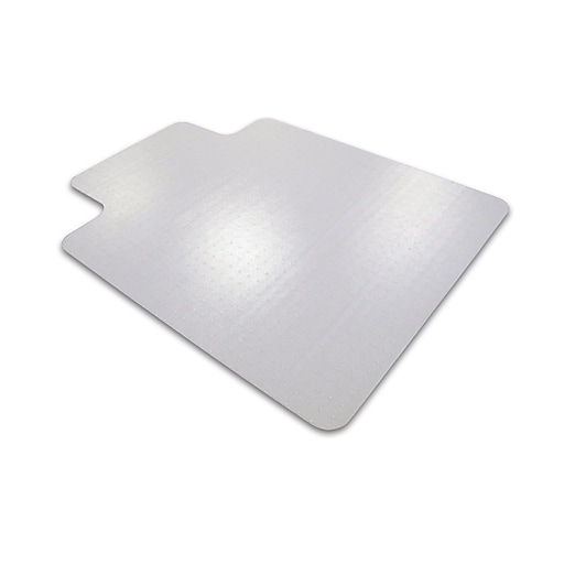 "Cleartex Advantagemat PVC Clear Chair Mat for Carpets Over 3/4"" Rectangular with Lip 36"" x 48"" (119240LV)"