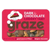 Graze Snack Mix, Dark Chocolate Cherry Tart 1.6 oz, Pack of 12 (NDD10124)