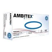 Ambitex P6505 Series Polyethylene Disposable Gloves, L, Clear, 500/Box (PLG6505)