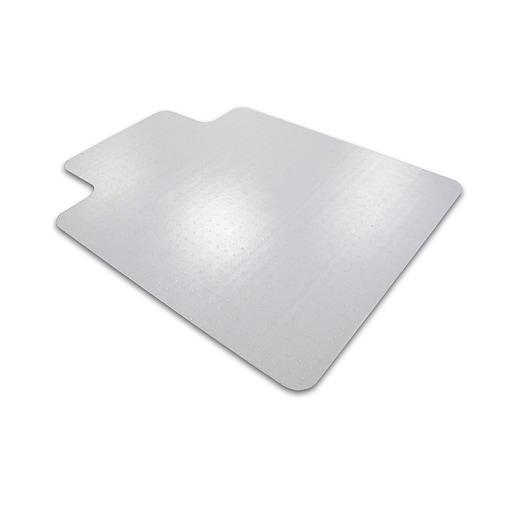 "Cleartex Advantagemat PVC Clear Chair Mat for Medium Pile Carpets 3/4"" Rectangular with Lip 45"" x 53"" (11341530LV)"