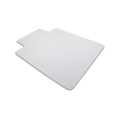 Cleartex Advantagemat PVC Clear Chair Mat for Hard Floors Rectangular with Lip 36