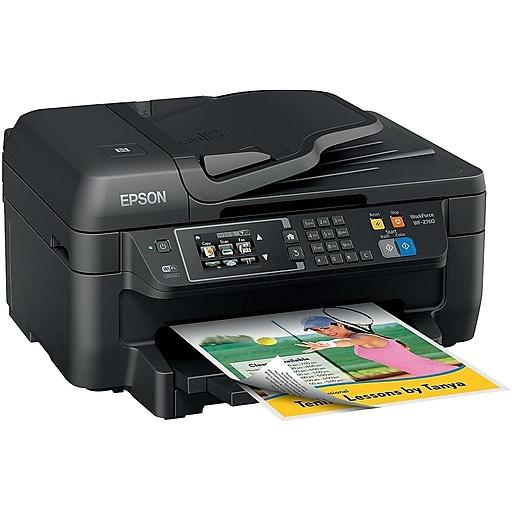 Epson WorkForce WF-2760 C11CF77201 USB, Wireless, Network Ready Color  Inkjet All-In-One Printer