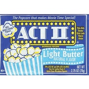 ACT II Popcorn, Light Butter, 2.75 Oz., 36/Carton (GOV23243)