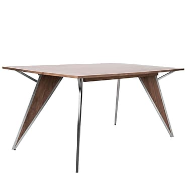 LumiSource Tetra Dining Table in Walnut Wood (DT-TETRA WL)