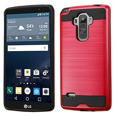 Insten Hard Dual Layer Silicone Case For LG G Stylo, Red/Black (2177720)