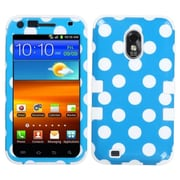 Insten White Polka Dots Blue /Solid White TUFF Hybrid Rugged Hard Shockproof Case For SAMSUNG Galaxy S2 4G