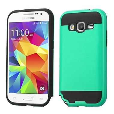 Insten Hard Hybrid Rubber Silicone Case For Samsung Galaxy Core Prime, Teal/Black (2229999)