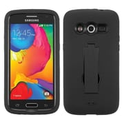 Insten Symbiosis Skin Dual Layer Rubber Hard Case w/stand For Samsung Galaxy Avant - Black