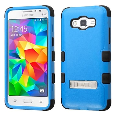 Insten Hard Dual Layer Silicone Case w/stand For Samsung Galaxy Grand Prime - Blue/Black