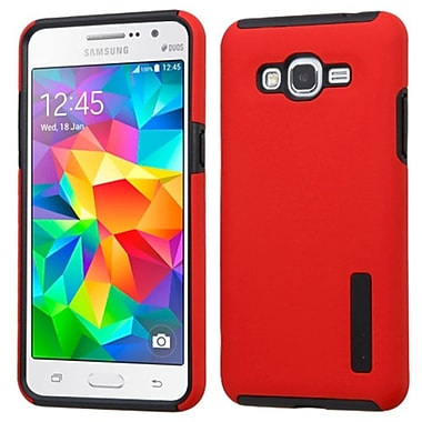 Insten Hard Hybrid Rubber Silicone Cover Case For Samsung Galaxy Grand Prime - Red/Black