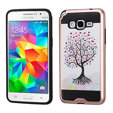 Insten Love Tree Hard Hybrid Rubber Coated Silicone Case For Samsung Galaxy Grand Prime - Pink/White