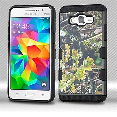 Insten English Oak Hybrid 2-Layer Hard Plastic Soft TPU Cover Case For Samsung Galaxy Grand Prime - Green/Black