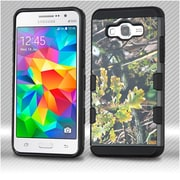 Insten English Oak Hybrid 2-Layer Hard Plastic Soft TPU Cover Case For Samsung Galaxy Grand Prime - Green/Black