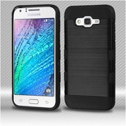 Insten Hard TPU Case For Samsung Galaxy J7 (2015) - Black