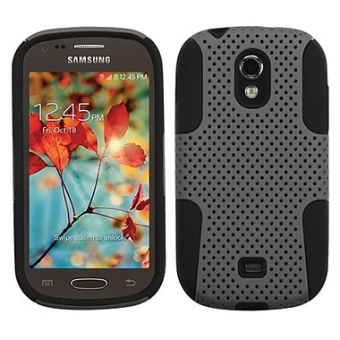 Insten Astronoot Mesh Hard Hybrid Shockproof Rubber Coated Silicone Case For Samsung Galaxy Light, Gray/Black (1843245)