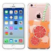 Insten Orange Soda Rubber Case For Apple iPhone 6 / 6s - Clear/Orange