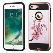 Insten Spring Flowers Hard Dual Layer TPU Case For Apple iPhone 7 - Pink