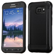 Insten Hard Hybrid Rubber Silicone Cover Case For Samsung Galaxy S7 Active, Black (2237775)