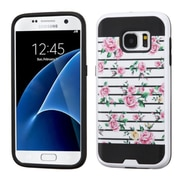 Insten Fresh Roses Hard Dual Layer Case For Samsung Galaxy S7 - Pink/White
