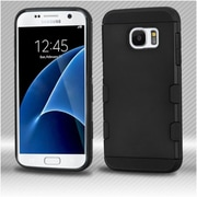 Insten Hard Silicone Case For Samsung Galaxy S7 - Black