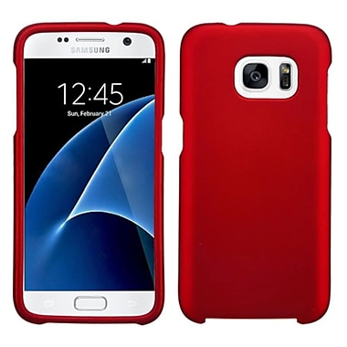 Insten Hard Rubberized Cover Case For Samsung Galaxy S7, Red (2238406)