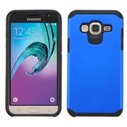 Insten Hard Hybrid Rubber Silicone Case For Samsung Galaxy Amp Prime/J3, Blue/Black (2195508)