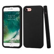 Insten Rubberized Black/Black Hybrid Dual Layer Case Cover for Apple iPhone 7