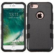 Insten Tuff Black Carbon Fiber 3-Layer Silicone Hard Hybrid Case For Apple iPhone 7
