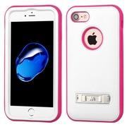 Insten Ultra Slim Hybrid 3-Layer Shockproof Kickstand Case For Apple iPhone 7 - White/Pink