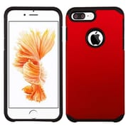 Insten Dual Layer Hybrid Soft TPU Hard Shell Case For iPhone 7 Plus - Red/Black