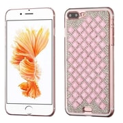 Insten Sparkly Diamante Hard Cover Case For Apple iPhone 7 Plus - Pink/Silver (with 3D Rhinestone Diamond)