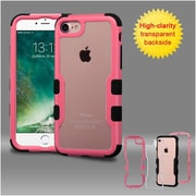 Insten Pink Frame+Transparent PC Back/Black TUFF Vivid Hybrid Case Cover for Apple iPhone 7