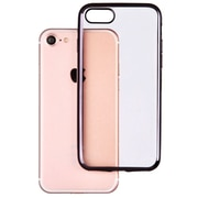 Insten Clear Back Rubber TPU Panel Case with Black Bumper For iPhone 7