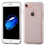 Insten Transparent Clear Bling Glitter Flexible TPU Rubber Skin Case For Apple iPhone 7