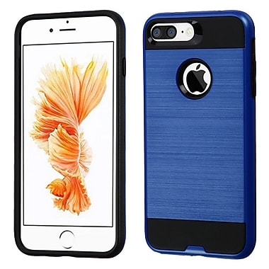 Insten Dual Layer Hybrid Soft TPU Hard Shell Case For Apple iPhone 7 Plus/ 8 Plus, Blue/Black (2271096)