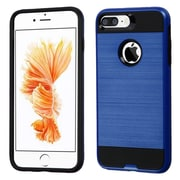 Insten Dual Layer Hybrid Soft TPU Hard Shell Case For Apple iPhone 7 Plus - Blue/Black