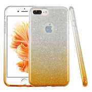 Insten Glitter Hybrid Hard Plastic / Soft Flexible Rubber Case For iPhone 7 Plus - Gold