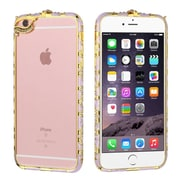 Insten Hard Bumper Case with Diamond For iPhone 6s Plus / 6 Plus - Purple