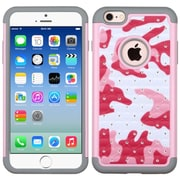 Insten Camouflage Hard Hybrid Rugged Shockproof Silicone Case w/Diamond For Apple iPhone 6/6s - Hot Pink/White