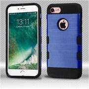 Insten Dark Blue/Black Brushed TUFF Trooper Hybrid Dual Layer Case Cover for Apple iPhone 7