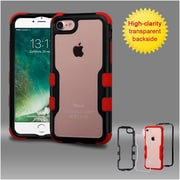 Insten Black Frame+Transparent PC Back/Red TUFF Vivid Hybrid Case Cover for Apple iPhone 7