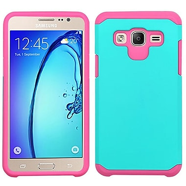 Insten Hard Dual Layer Rubber Silicone Cover Case For Samsung Galaxy On5, Teal/Hot Pink (2256026)