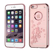 Insten Spring Flowers Rubber Case For Apple iPhone 6s Plus / 6 Plus - Rose Gold