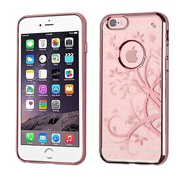 Insten Maple Vine Rubber Case For Apple iPhone 6s Plus / 6 Plus - Rose Gold