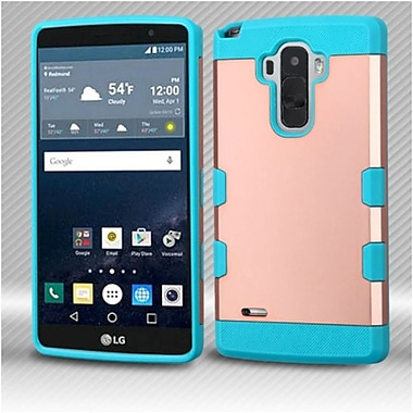 Insten Hard Rubberized Silicone Case For LG G Stylo / G Vista 2 - Rose Gold/Teal
