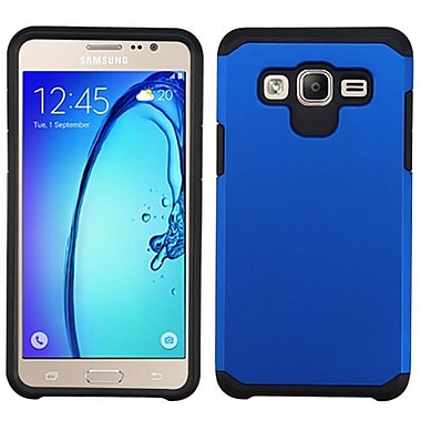 Insten Hard Hybrid Rubber Silicone Case For Samsung Galaxy On5 - Blue/Black